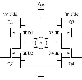 Motor H Bridge Circuit on h bridge chip