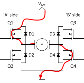 h-bridges – the basics | modular circuits h bridge circuit diagram with forward reverse a light bulb circuit diagram with labeled parts of a closed with #9